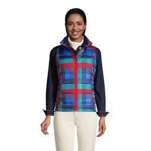 LANDS END Women's TALL Small 6-8 600 Down Puffer Vest Print